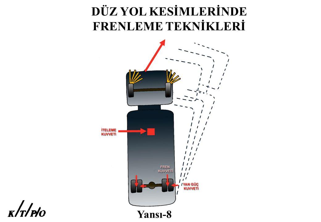 DÜZ YOL KESİMLERİNDE FRENLEME TEKNİKLERİ Yansı-8