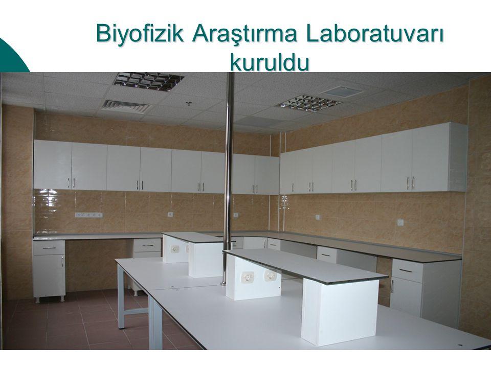 Biyofizik Araştırma Laboratuvarı kuruldu