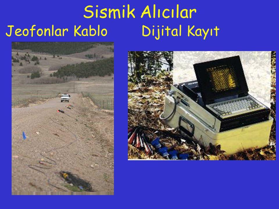 Sismik Alıcılar Jeofonlar Kablo Dijital Kayıt