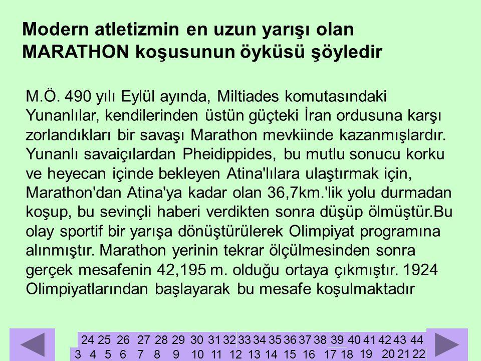 M.Ö. 490 yılı Eylül ayında, Miltiades komutasındaki Yunanlılar, kendilerinden üstün güçteki İran ordusuna karşı zorlandıkları bir savaşı Marathon mevk