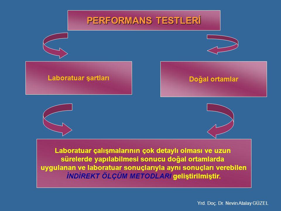 PERFORMANS TESTLERİ Laboratuar şartları Doğal ortamlar Laboratuar çalışmalarının çok detaylı olması ve uzun sürelerde yapılabilmesi sonucu doğal ortam