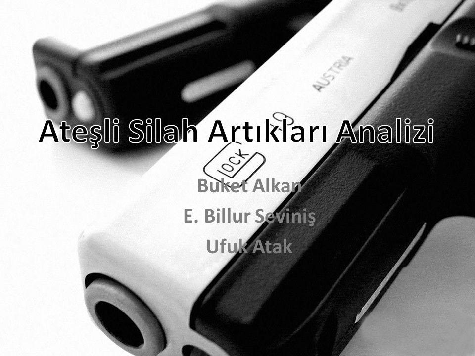 Kaynaklar • Atış Artıklarında ET-AAS ile Antimon Analizi ve Gözlenen Analitik Problemler - Nevra Fidan • Görüntü Analizi ile Ateşli Silah Atış Artığı Analizi- Dr.