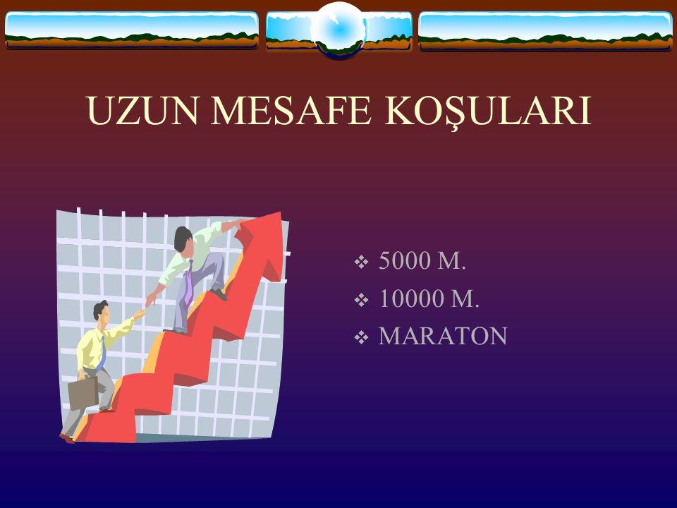 UZUN MESAFE KOŞULARI  5000 M.  10000 M.  MARATON