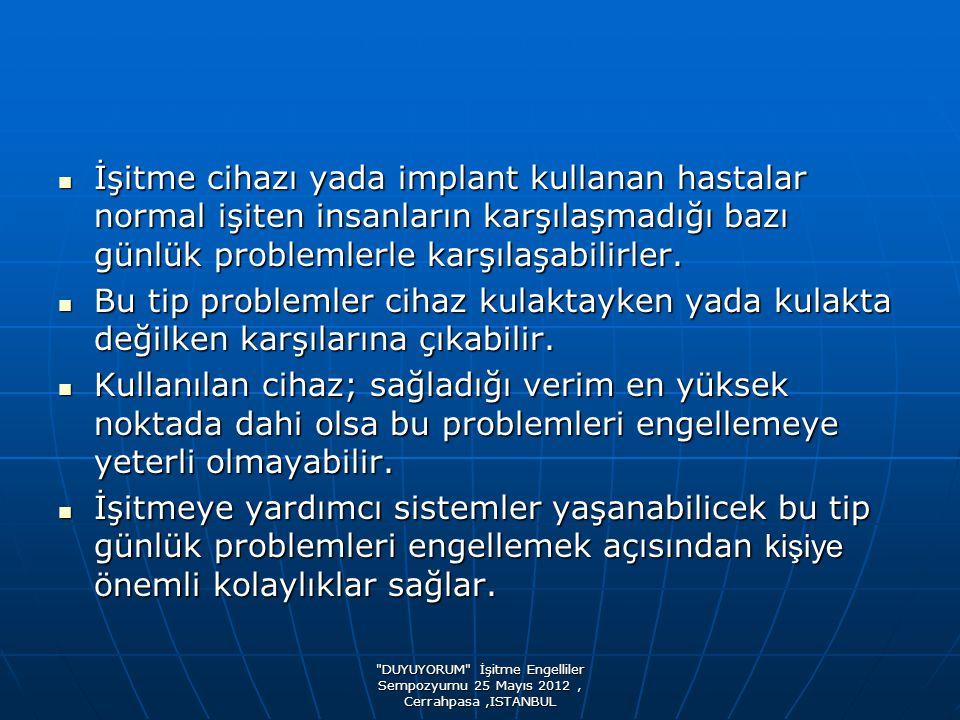DUYUYORUM İşitme Engelliler Sempozyumu 25 Mayıs 2012, Cerrahpasa,ISTANBUL TV İZLERKEN
