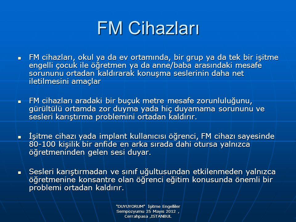 DUYUYORUM İşitme Engelliler Sempozyumu 25 Mayıs 2012, Cerrahpasa,ISTANBUL Sistem nasıl çalışıyor.
