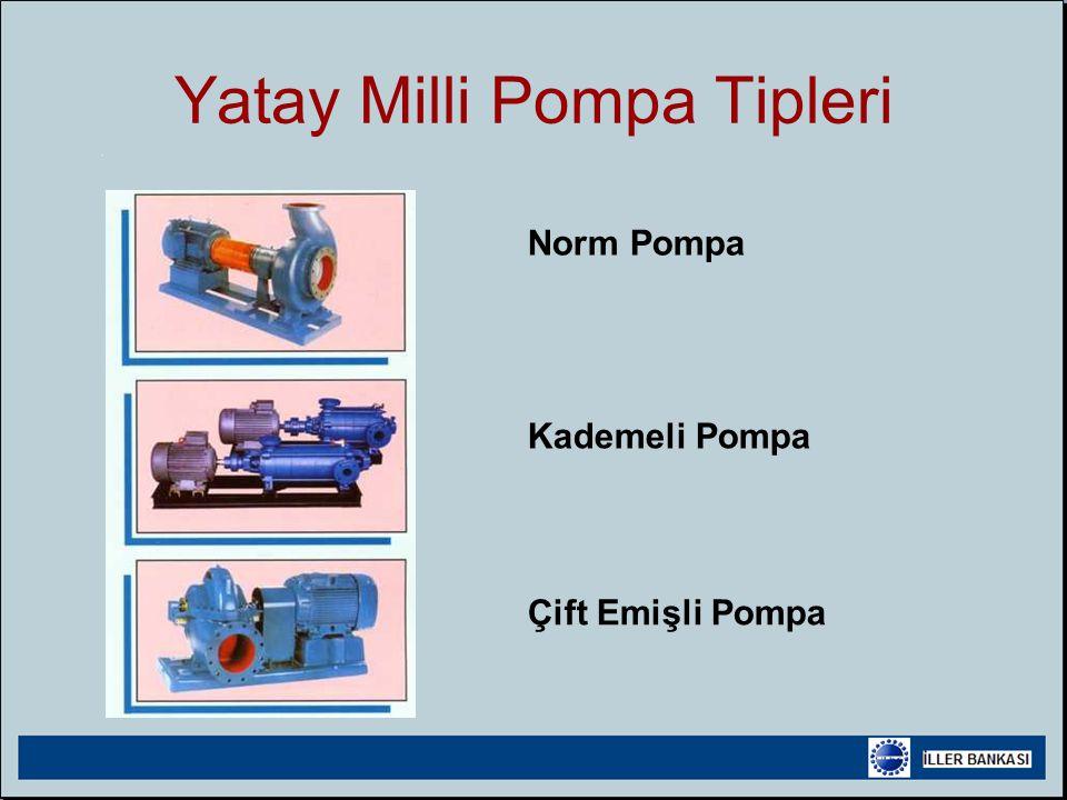 Yatay Milli Pompa Tipleri Norm Pompa Kademeli Pompa Çift Emişli Pompa