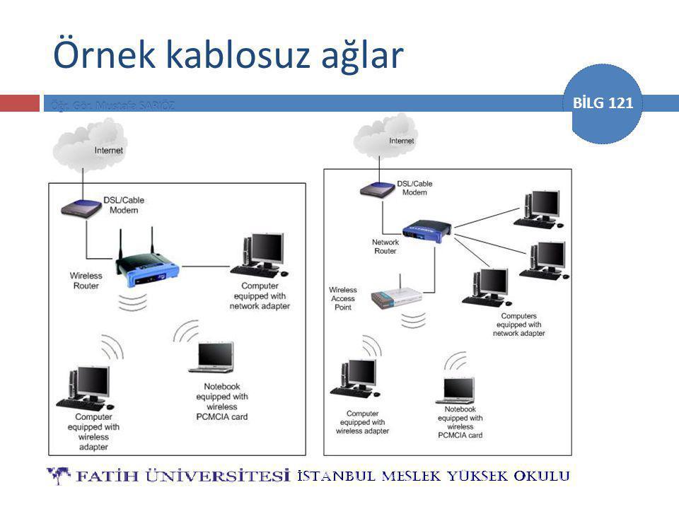 BİLG 121 Kablosuz İletişim Yöntemleri  Kızılötesi (IrDA)  Mikrodalga  İstasyonlar  Bluetooth  Radyo yayını  Uydu  Uplink/Downlink