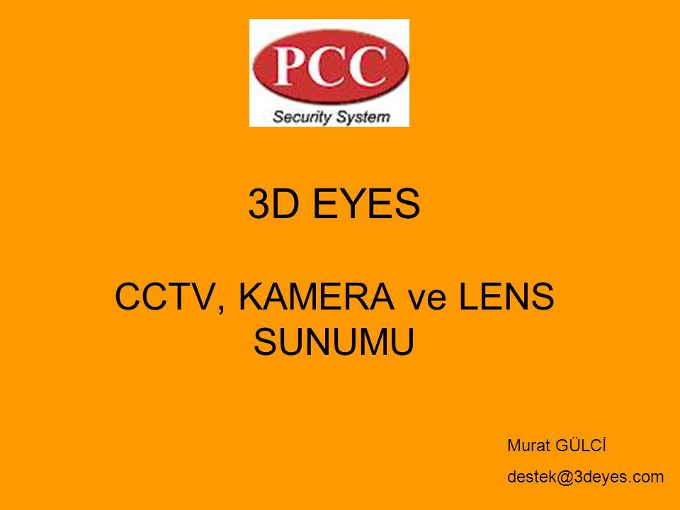 CCTV, KAMERA ve LENS SUNUMU 3D EYES Murat GÜLCİ destek@3deyes.com