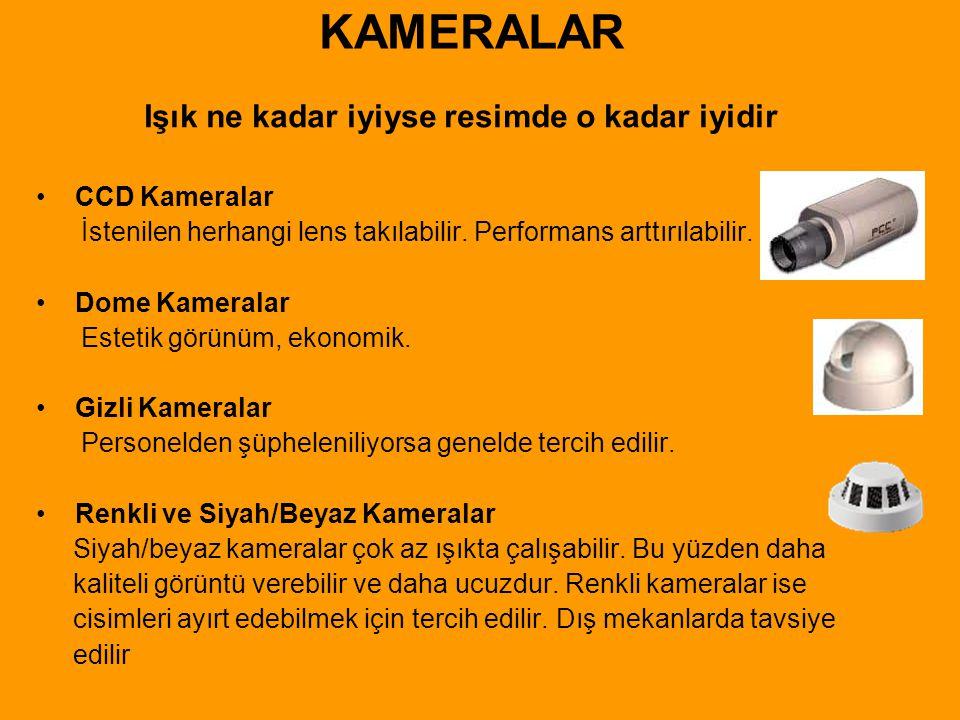 KAMERALARIN TEKNİK ÖZELLİKLERİ • 1/3 = Kameranın içindeki sensörün çapı.