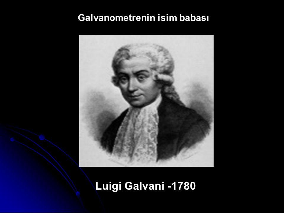 Luigi Galvani -1780 Galvanometrenin isim babası