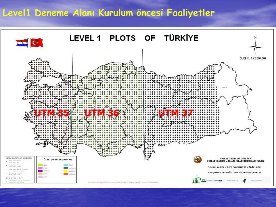 UTM 35UTM 36UTM 37 Level1 Deneme Alanı Kurulum öncesi Faaliyetler