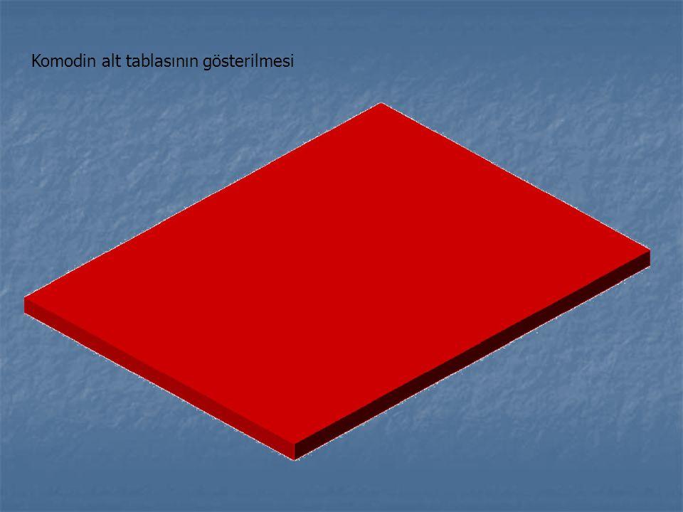 Komodin alt tablasının gösterilmesi