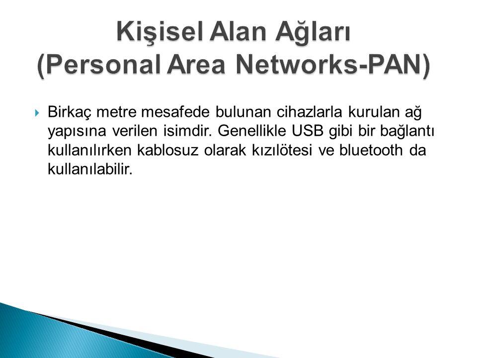  Birkaç metre mesafede bulunan cihazlarla kurulan ağ yapısına verilen isimdir. Genellikle USB gibi bir bağlantı kullanılırken kablosuz olarak kızılöt