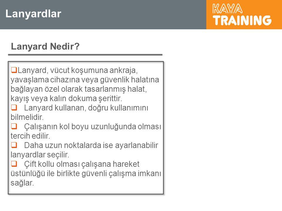 Sorular 4 ) Boşluk riskinin olmadığı çalışma ortamlarında sınırlandırma sistemi olarak kullanılır.