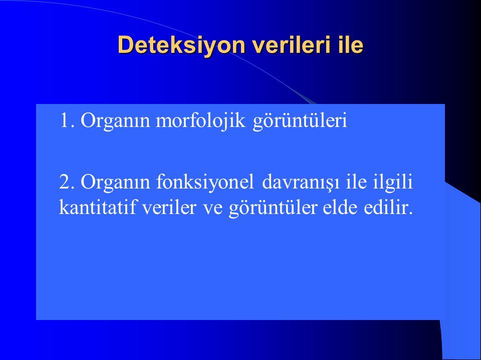 Deteksiyon verileri ile  1.Organın morfolojik görüntüleri  2.