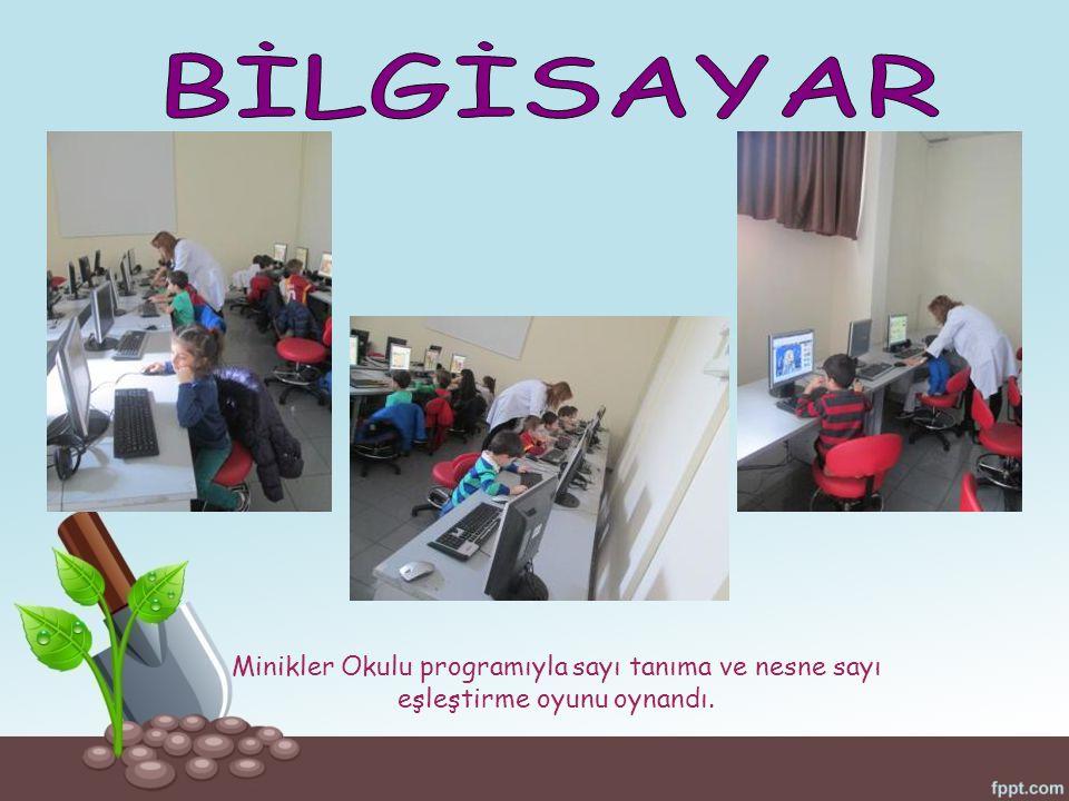 Minikler Okulu programıyla sayı tanıma ve nesne sayı eşleştirme oyunu oynandı.