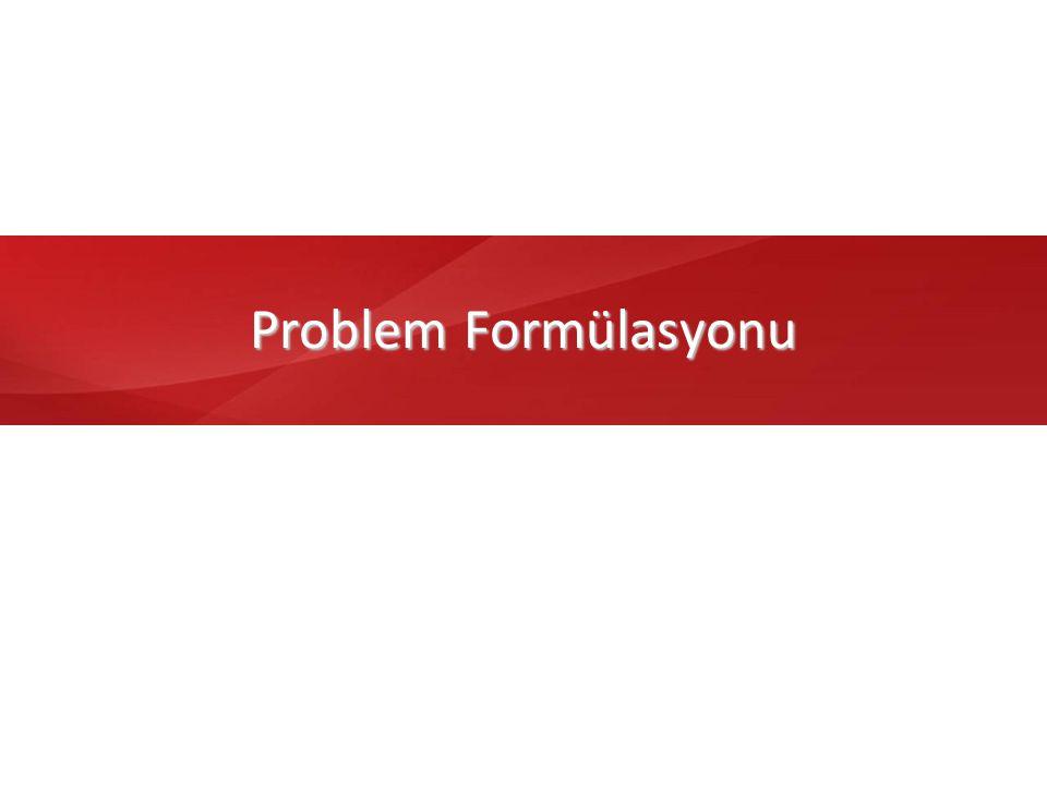 10 Problem Formülasyonu