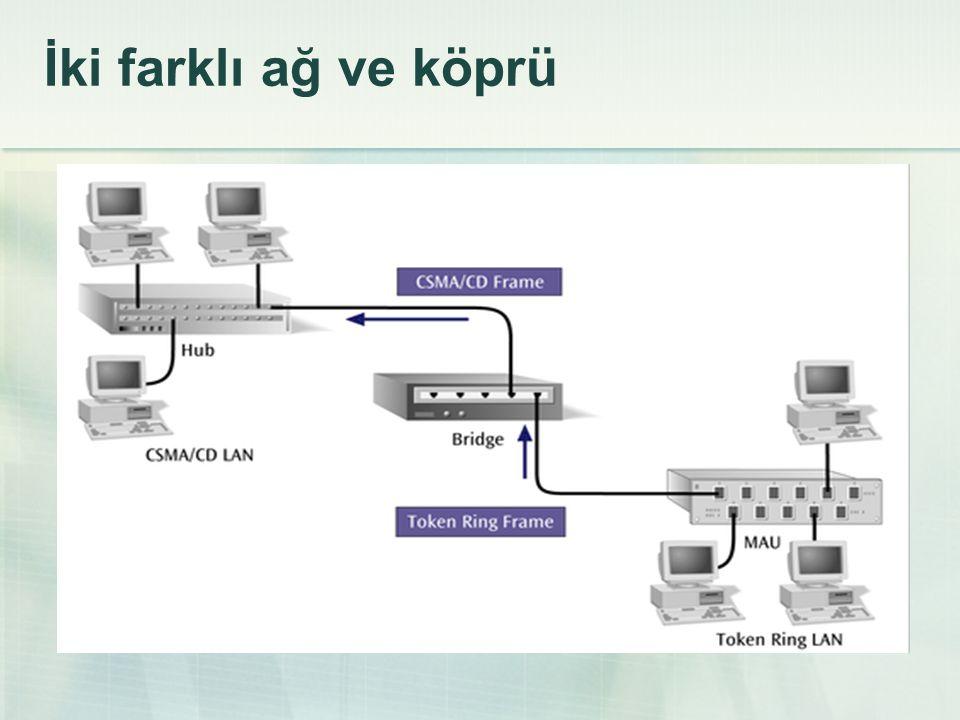 İki farklı ağ ve köprü