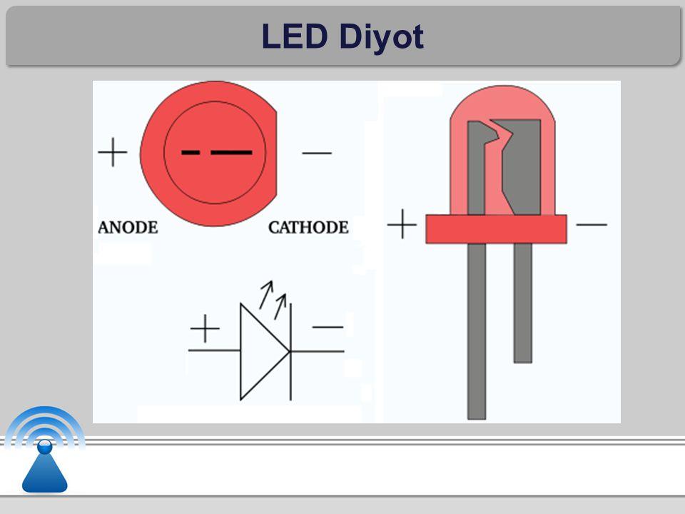 Infrared Diyot Infrared LED, normal LED'in birleşim yüzeyine galyum arsenid maddesi katılmamış halidir.