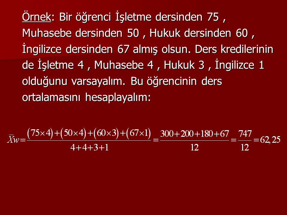 GEOMETRİK ORTALAMA Geometrik ortalama iktisat ve işletme alanlarında yaygın olarak kullanılan bir ortalama türüdür.