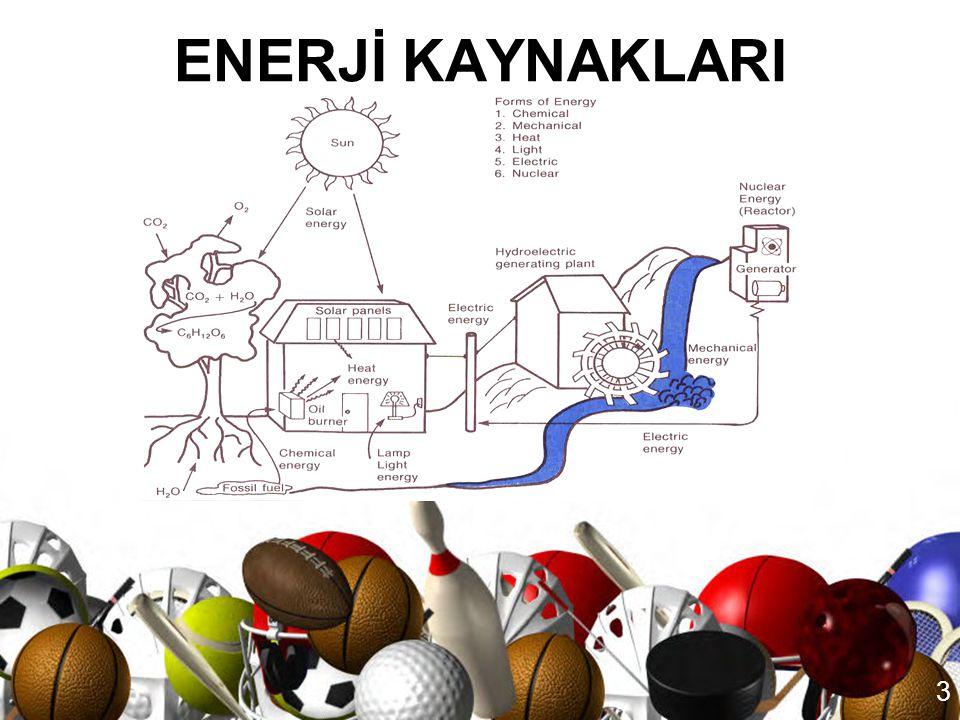 2 •Enerji, iş yapabilme kapasitesidir. •Doğada mevcut olan enerji şekilleri; 1.Kimyasal Enerji 2.Mekanik Enerji 3.Isı Enerjisi 4.Işık Enerjisi 5.Elekt