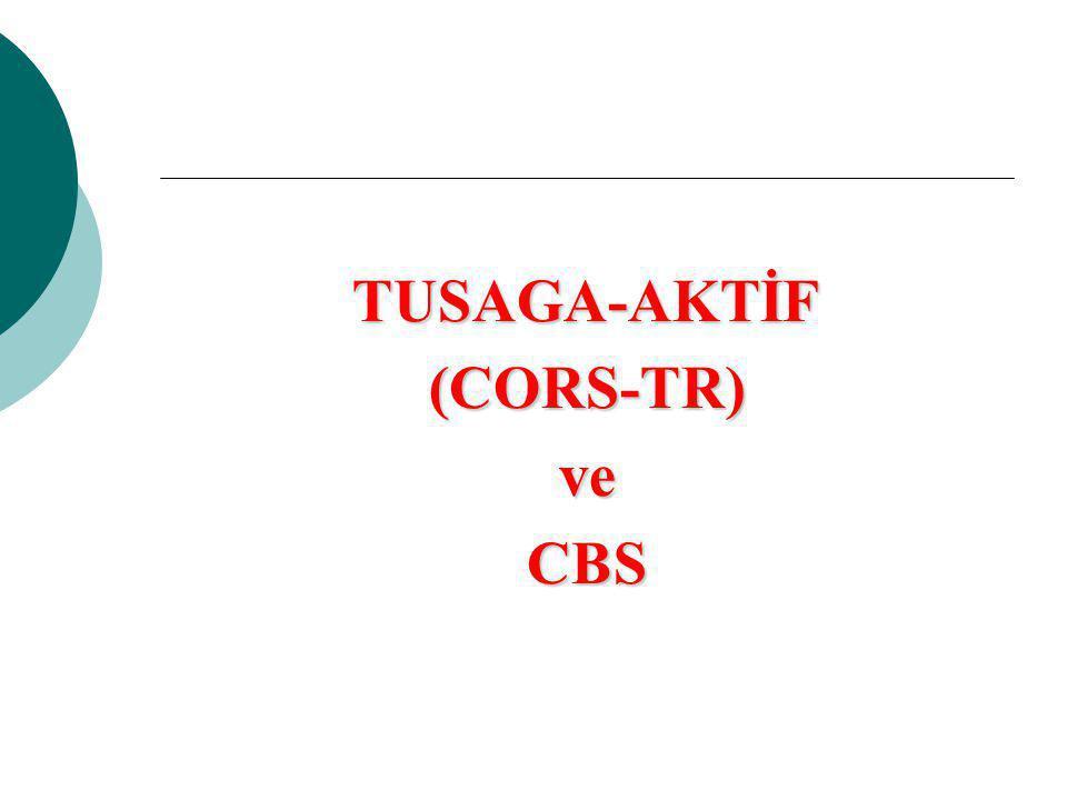 TUSAGA-AKTİF(CORS-TR)veCBS