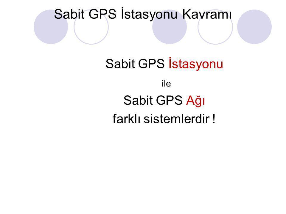 Sabit GPS İstasyonu Kavramı •Tüm istasyonların tek bir merkeze bağlı olarak çalışır •Sabit GPS ağlarının VRS çalışma prensibi, düzeltmenin mevcut bir