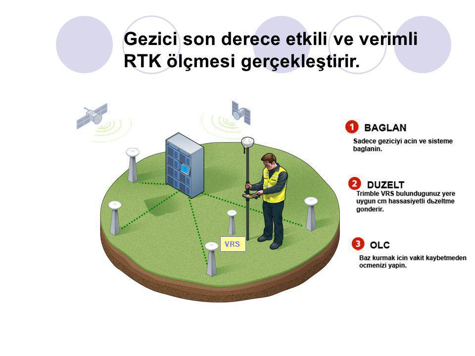 Kontrol merkezi her gezici için ayrı bir VRS (Sanal Referans İstasyonu) oluşturur VRS