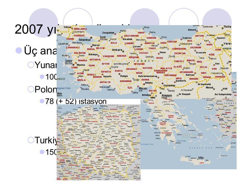 Dünya çapında 4000'den fazla referans istasyonundan oluşan küresel VRS Ağları ABD Çin Y.Zellanda Avusturalya Danimarka İsviçre Çek Cumhur. Finlandiya