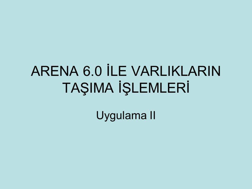 ARENA 6.0 İLE VARLIKLARIN TAŞIMA İŞLEMLERİ Uygulama II