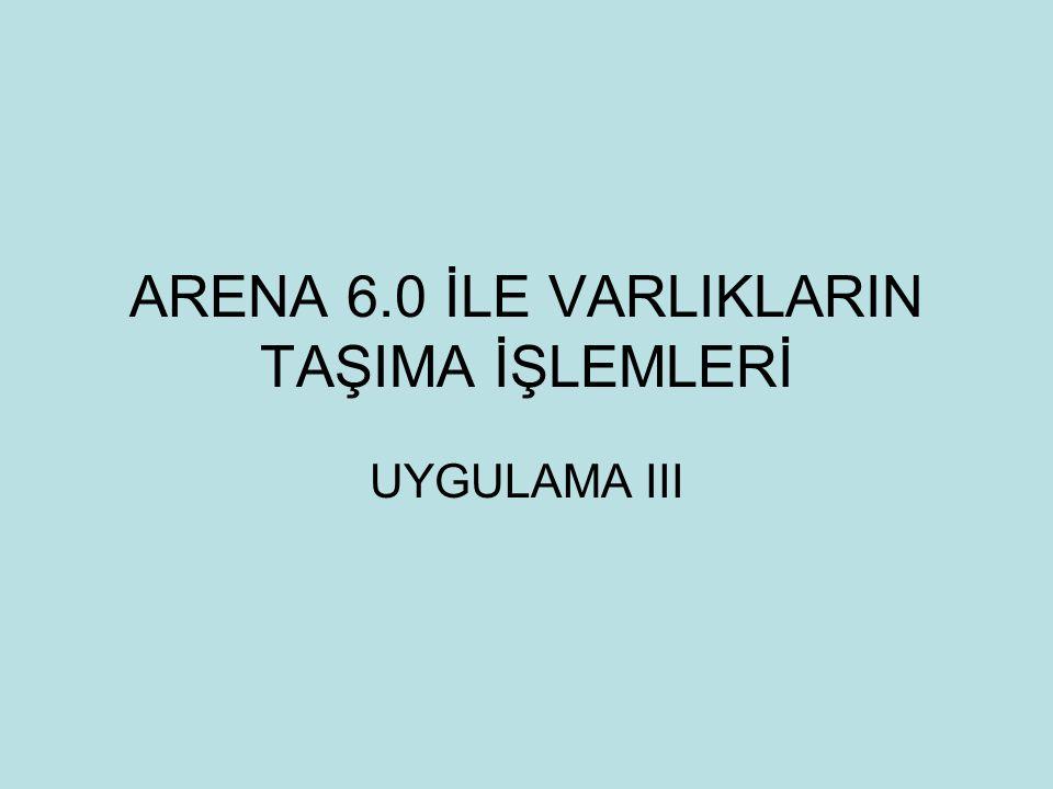 ARENA 6.0 İLE VARLIKLARIN TAŞIMA İŞLEMLERİ UYGULAMA III