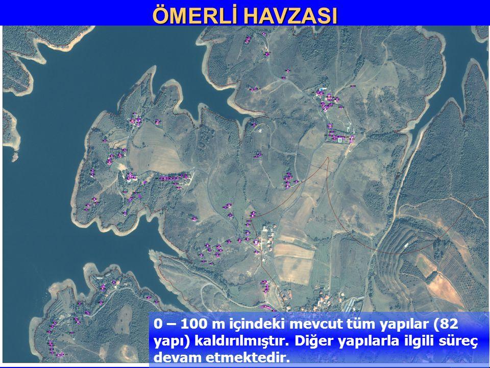 13 ÖMERLİ HAVZASI 0 – 100 m içindeki mevcut tüm yapılar (82 yapı) kaldırılmıştır. Diğer yapılarla ilgili süreç devam etmektedir. ÖMERLİ HAVZASI