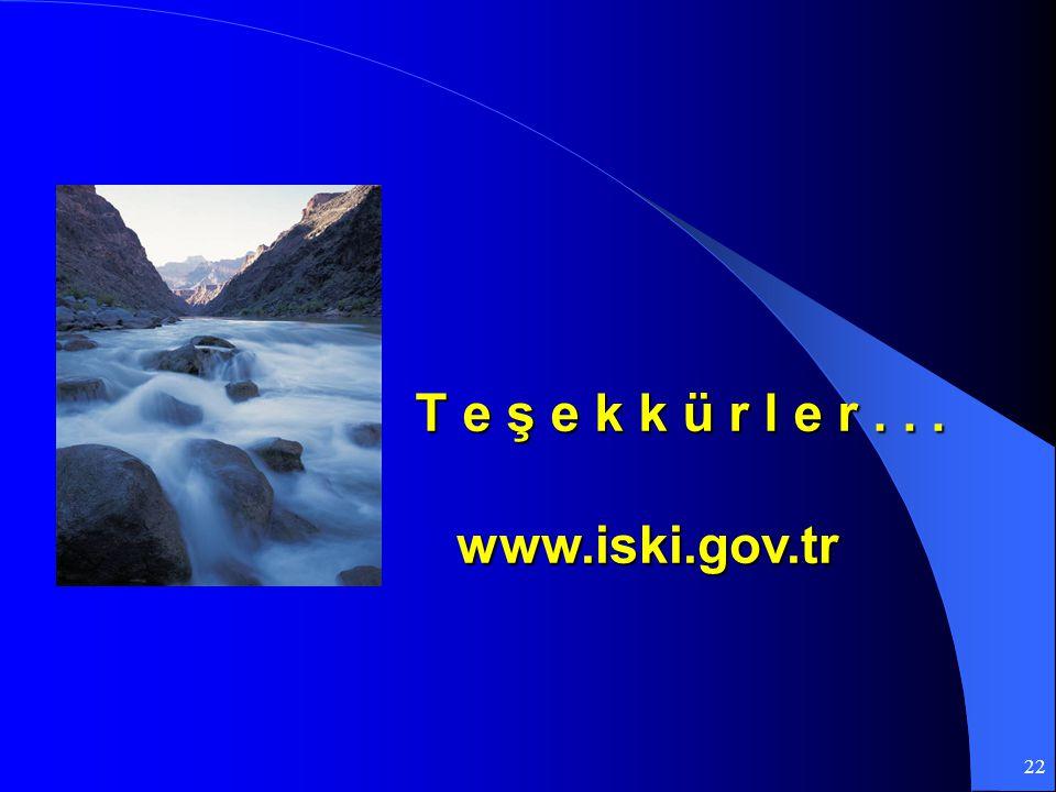 22 www.iski.gov.tr T e ş e k k ü r l e r...
