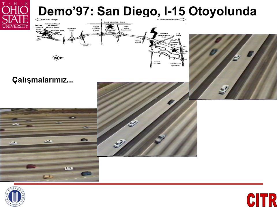 AB den Örnekler VisLAB (ITA) •İtalya  Çin (13,000km) •Elektrik, Otonom •Lider/rota takibi •Yol/araç/engel tanıma •7 Kamera,4 LIDAR •GPS, V2V…