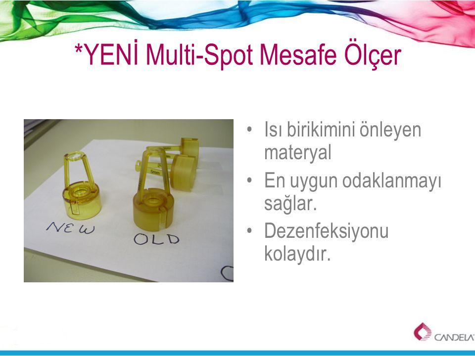 *YENİ Multi-Spot Mesafe Ölçer •Isı birikimini önleyen materyal •En uygun odaklanmayı sağlar. •Dezenfeksiyonu kolaydır.