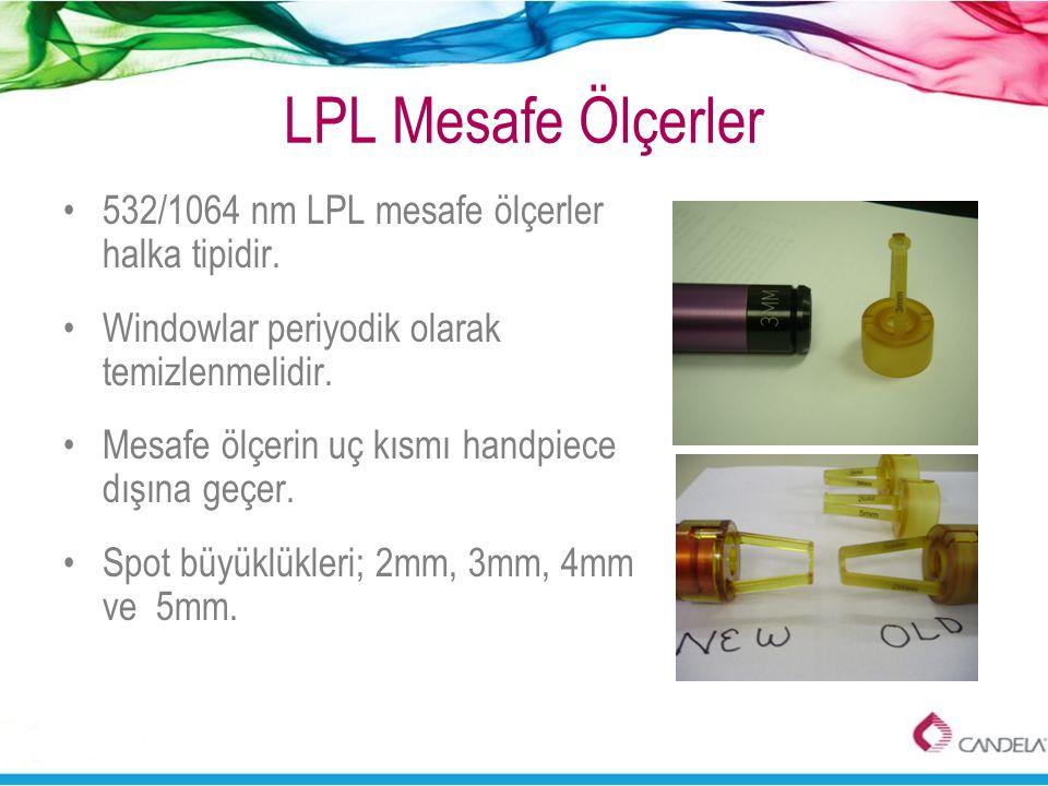 LPL Mesafe Ölçerler •532/1064 nm LPL mesafe ölçerler halka tipidir. •Windowlar periyodik olarak temizlenmelidir. •Mesafe ölçerin uç kısmı handpiece dı