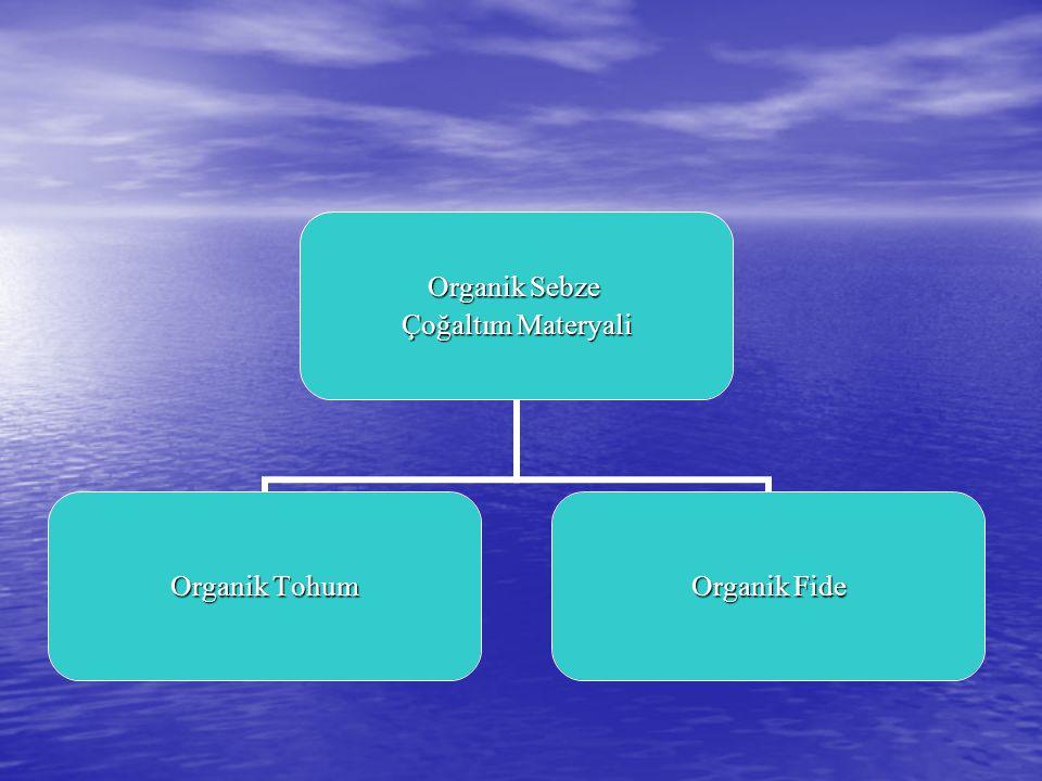 Organik Sebze Çoğaltım Materyali Organik Tohum Organik Fide