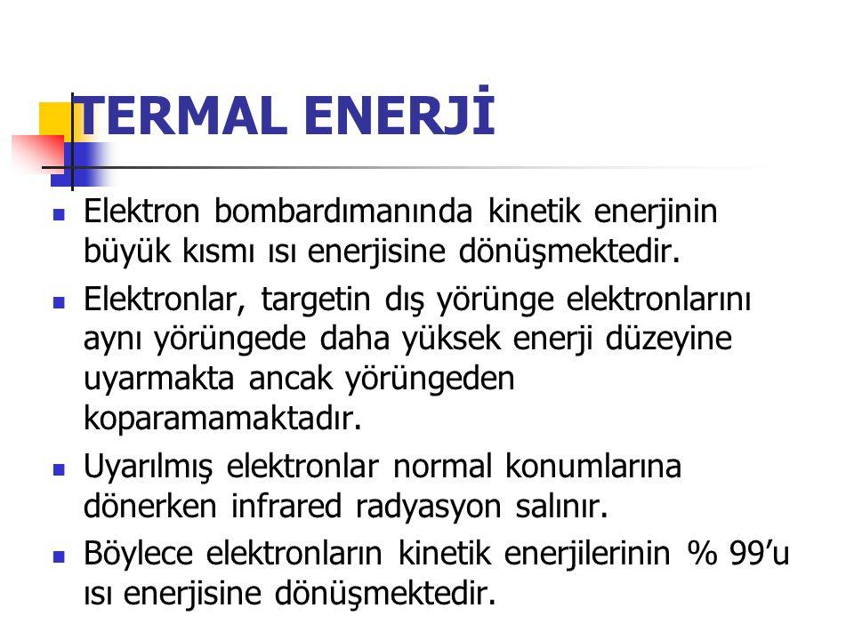  Enerji dönüşümü; targetteki nukleusların elektrik alanı ve orbital elektronların bağlama enerjisi düzeyinde olmaktadır.  Target elektronlarının yör