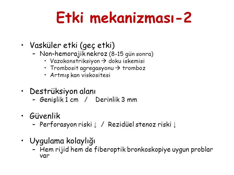 •Vasküler etki (geç etki) –Non-hemorajik nekroz (8-15 gün sonra) •Vazokonstriksiyon  doku iskemisi •Trombosit agregasyonu  tromboz •Artmış kan visko