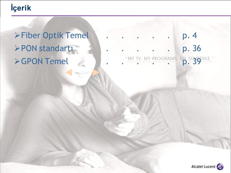 34 PON Besleyici yedekliliği  ITU-T G.984.1 standartı OLT – ONT arasında 3 tip yedekliliği tanınmlar  Type A : yedek fiber, ek olarak LT ve ya ONT olmadan  Type B : yedek splitter : yedekli 2 LT'den ilk splittera kadar yedekli 2 fiber  Type C: uçtan uca yedeklilik: yedekli LT, fiber, splitter, ONT