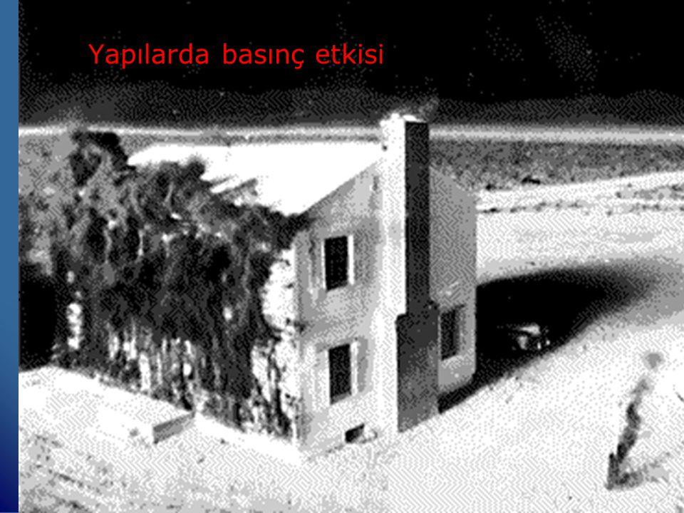 Basıncın Özellikleri - Devamlıdır.- Yavaş seyreder.(Ses Hızında) - Bina ve diğer yapıları yıkar.