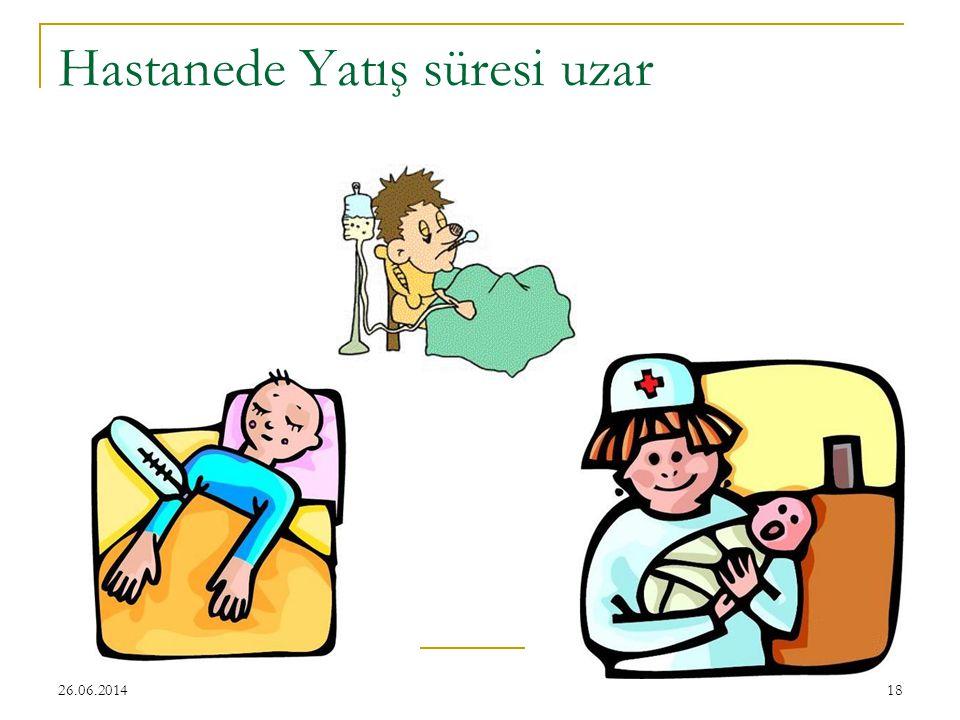 26.06.201418 Hastanede Yatış süresi uzar