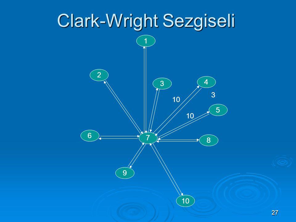 27 Clark-Wright Sezgiseli 1 2 5 4 6 7 8 9 10 3 3