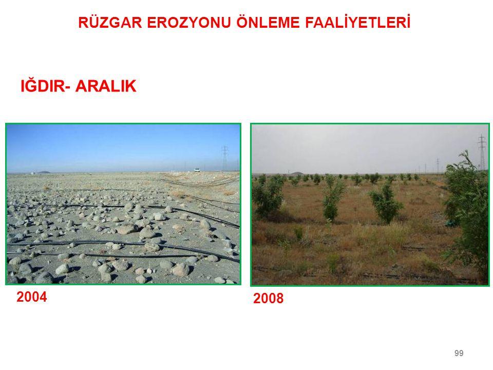 99 2004 2008 IĞDIR- ARALIK RÜZGAR EROZYONU ÖNLEME FAALİYETLERİ