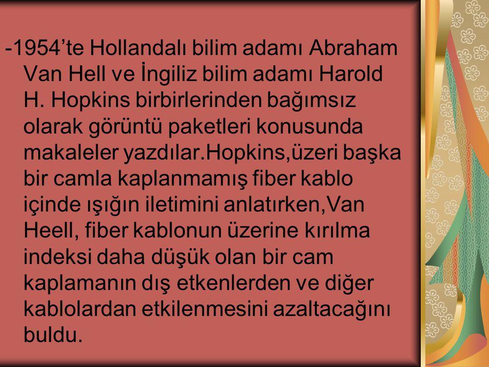 -1954'te Hollandalı bilim adamı Abraham Van Hell ve İngiliz bilim adamı Harold H.
