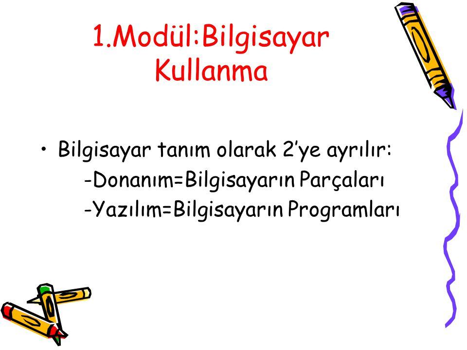2.YAZILIM •Yazılım bilgisayarımızın içinde yüklü olan programlardır.4 çeşit yazılım vardır: