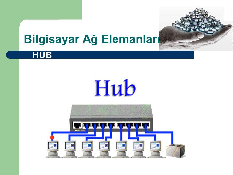 Bilgisayar Ağ Elemanları  HUB