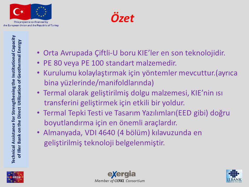 Member of Consortium This project is co-financed by the European Union and the Republic of Turkey Özet • Orta Avrupada Çiftli-U boru KIE'ler en son teknolojidir.