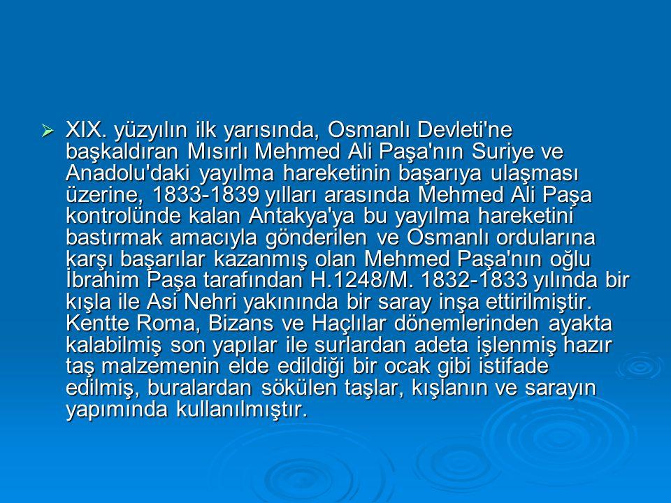  XIX. yüzyılın ilk yarısında, Osmanlı Devleti'ne başkaldıran Mısırlı Mehmed Ali Paşa'nın Suriye ve Anadolu'daki yayılma hareketinin başarıya ulaşması
