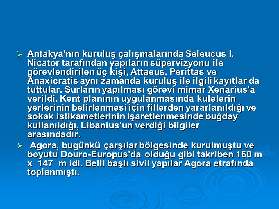  Antakya nın kuruluş çalışmalarında Seleucus I.